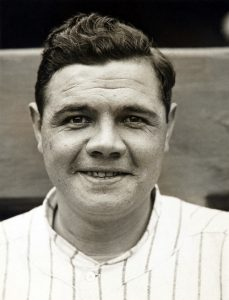 babe ruth black and white