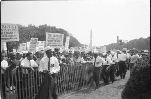 civil rights march black and white
